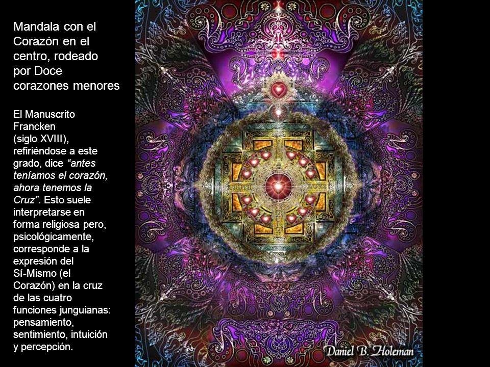 Mandala con el Corazón en el centro, rodeado por Doce