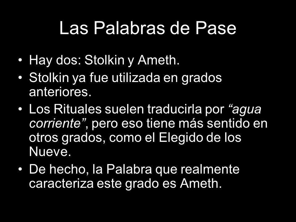 Las Palabras de Pase Hay dos: Stolkin y Ameth.