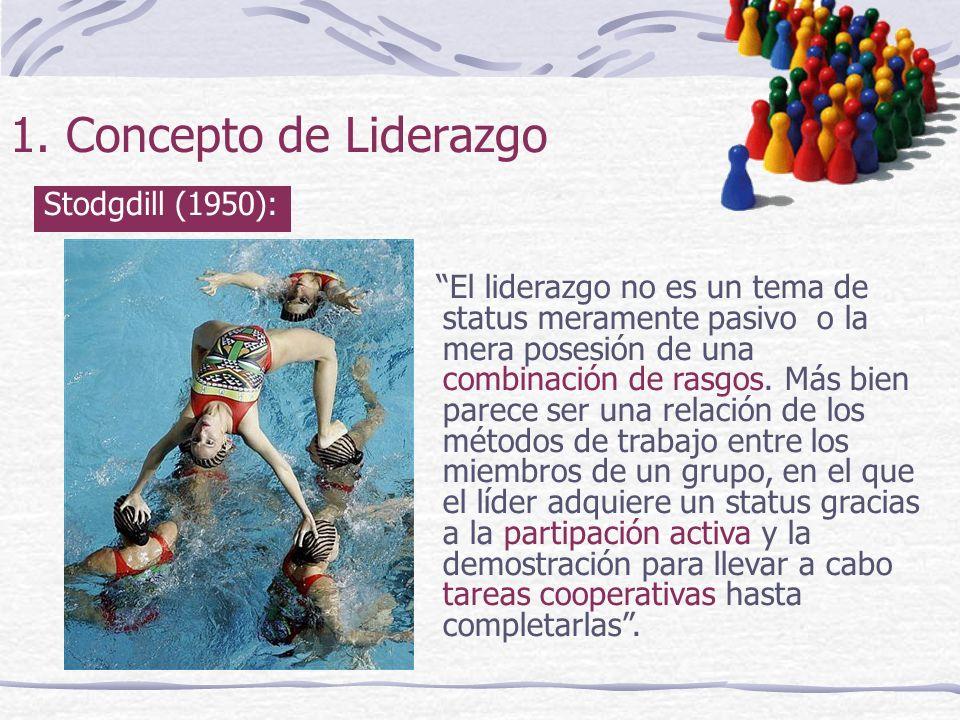 1. Concepto de Liderazgo Stodgdill (1950):