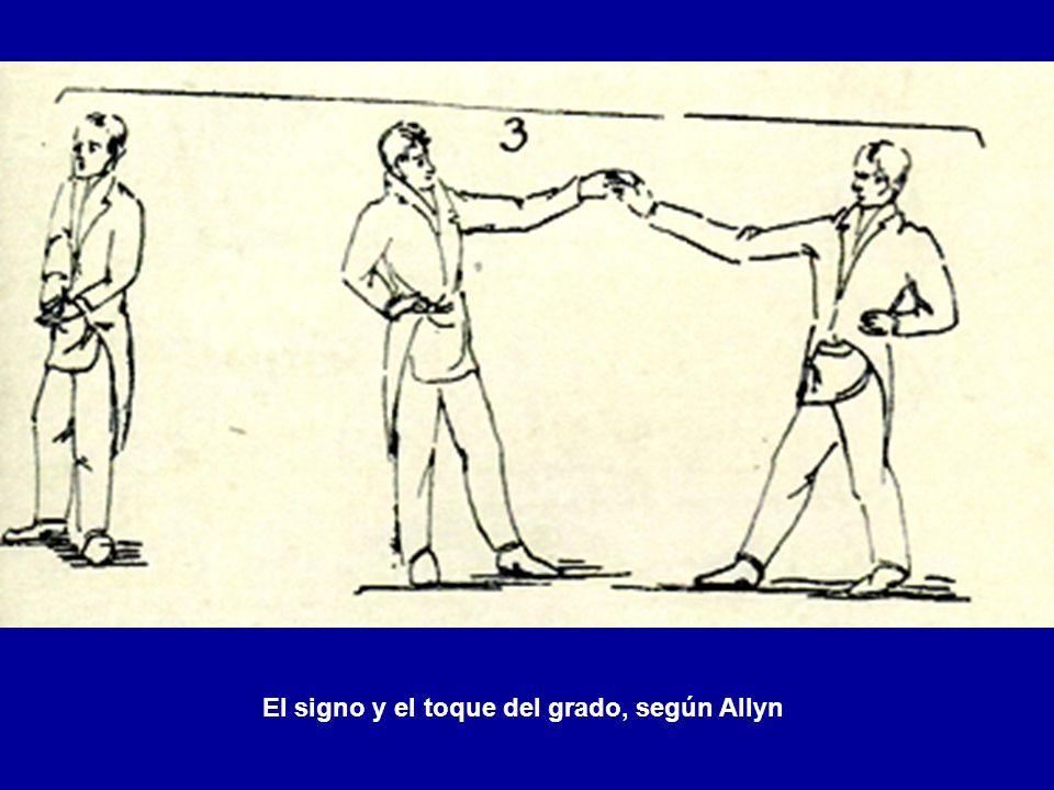 El signo y el toque del grado, según Allyn