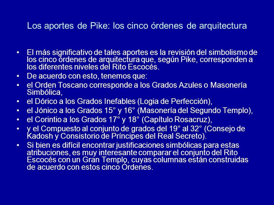 Los aportes de Pike: los cinco órdenes de arquitectura