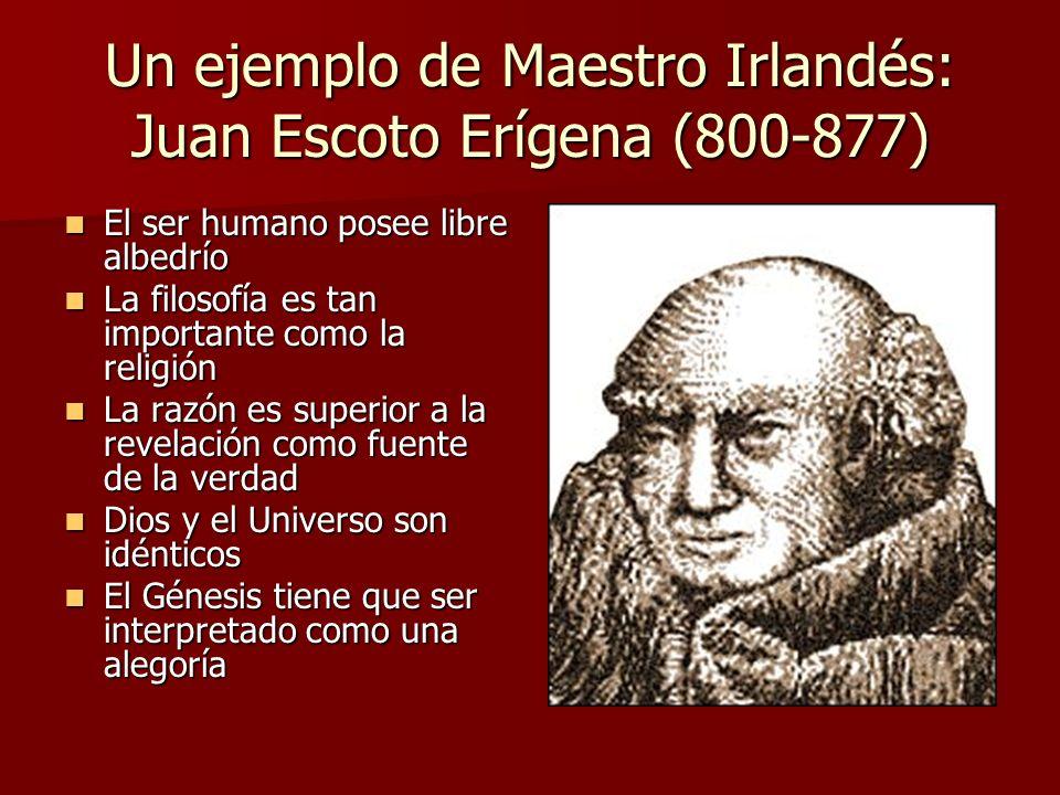 Un ejemplo de Maestro Irlandés: Juan Escoto Erígena (800-877)