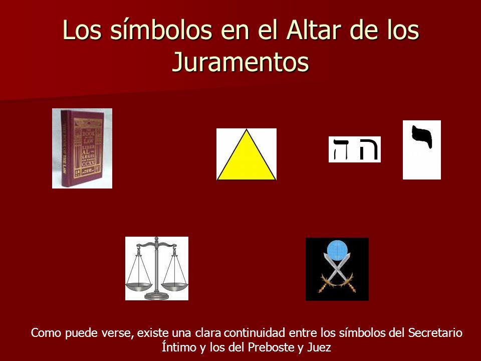 Los símbolos en el Altar de los Juramentos