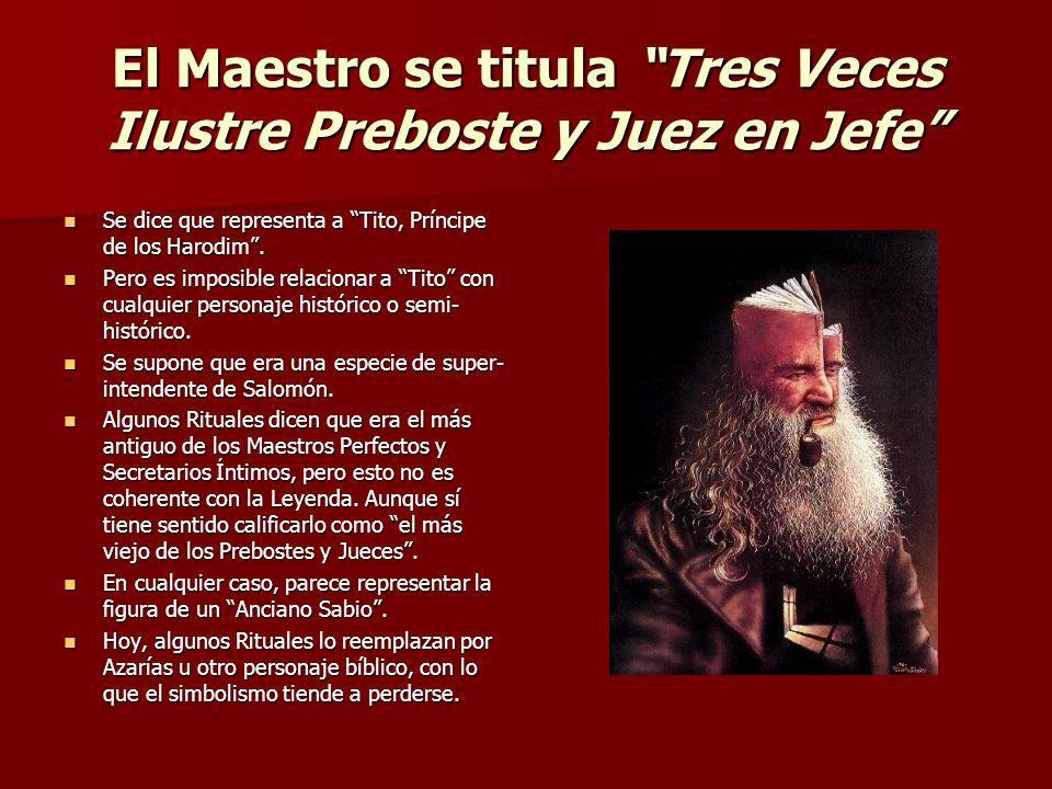 El Maestro se titula Tres Veces Ilustre Preboste y Juez en Jefe