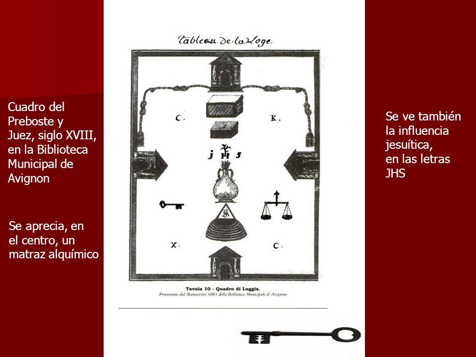 Cuadro del Preboste y. Juez, siglo XVIII, en la Biblioteca. Municipal de. Avignon. Se ve también.