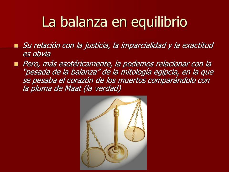 La balanza en equilibrio