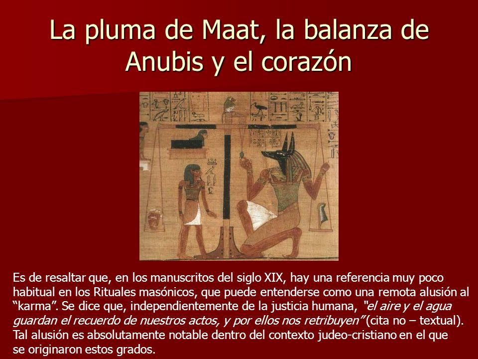 La pluma de Maat, la balanza de Anubis y el corazón
