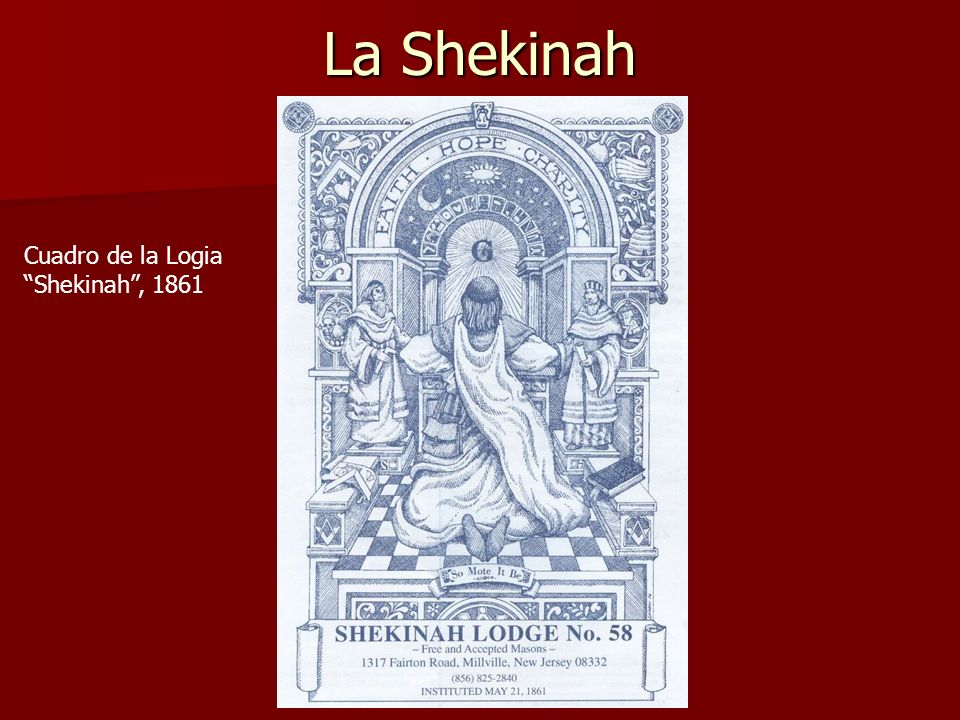 La Shekinah Cuadro de la Logia Shekinah , 1861