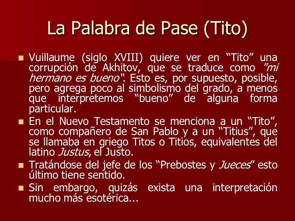 La Palabra de Pase (Tito)