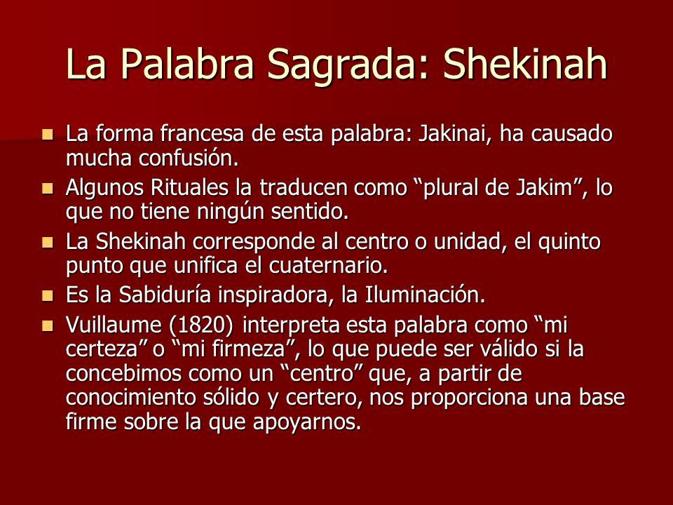La Palabra Sagrada: Shekinah