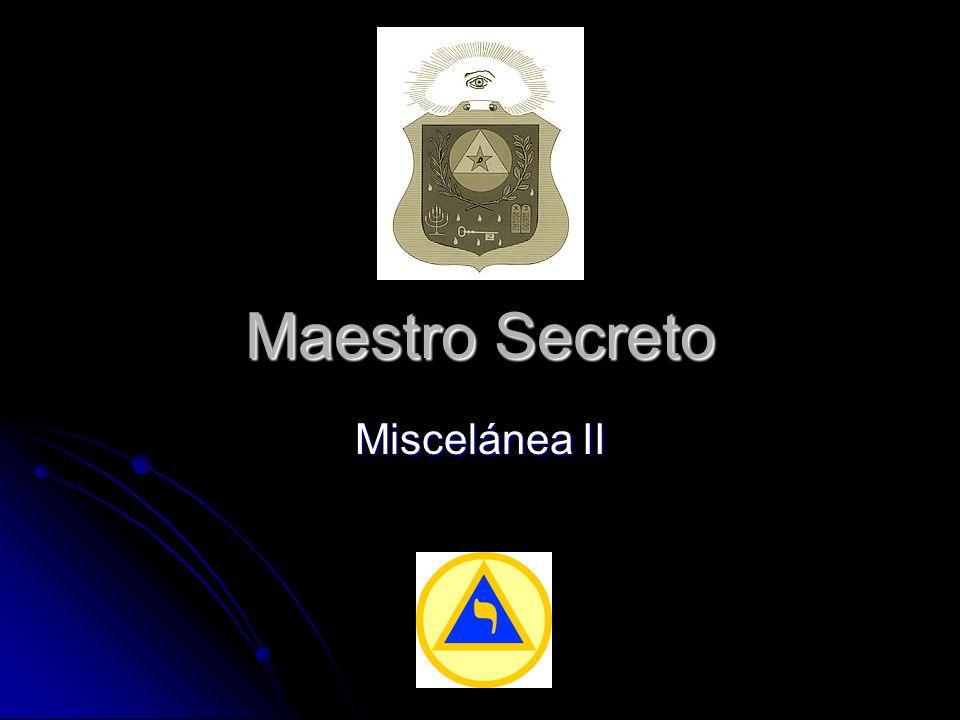 Maestro Secreto Miscelánea II