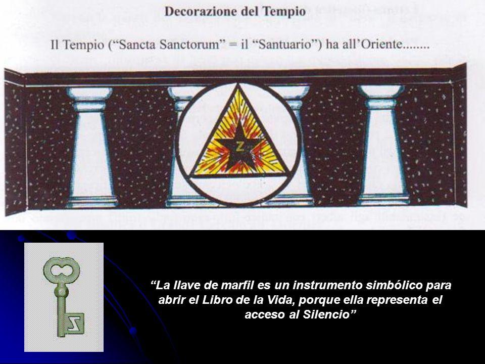 La llave de marfil es un instrumento simbólico para