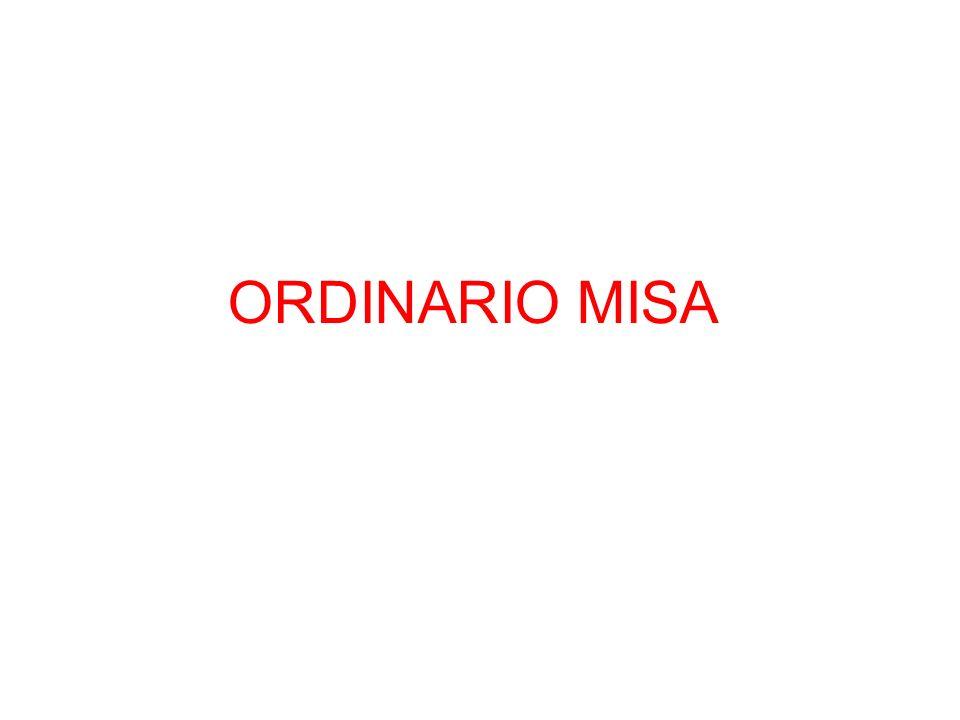 ORDINARIO MISA