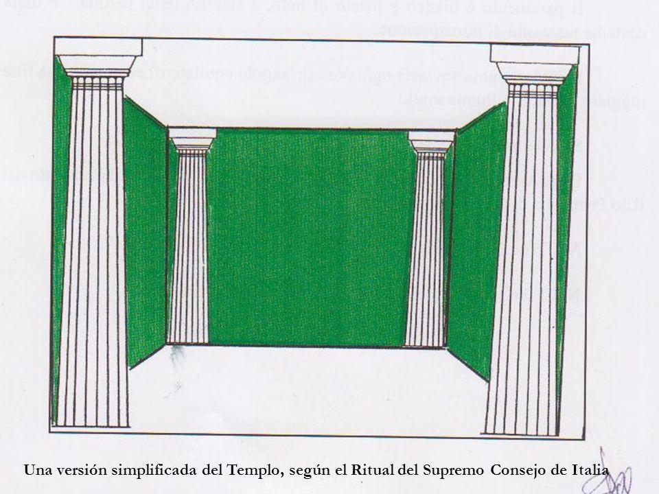 Una versión simplificada del Templo, según el Ritual del Supremo Consejo de Italia