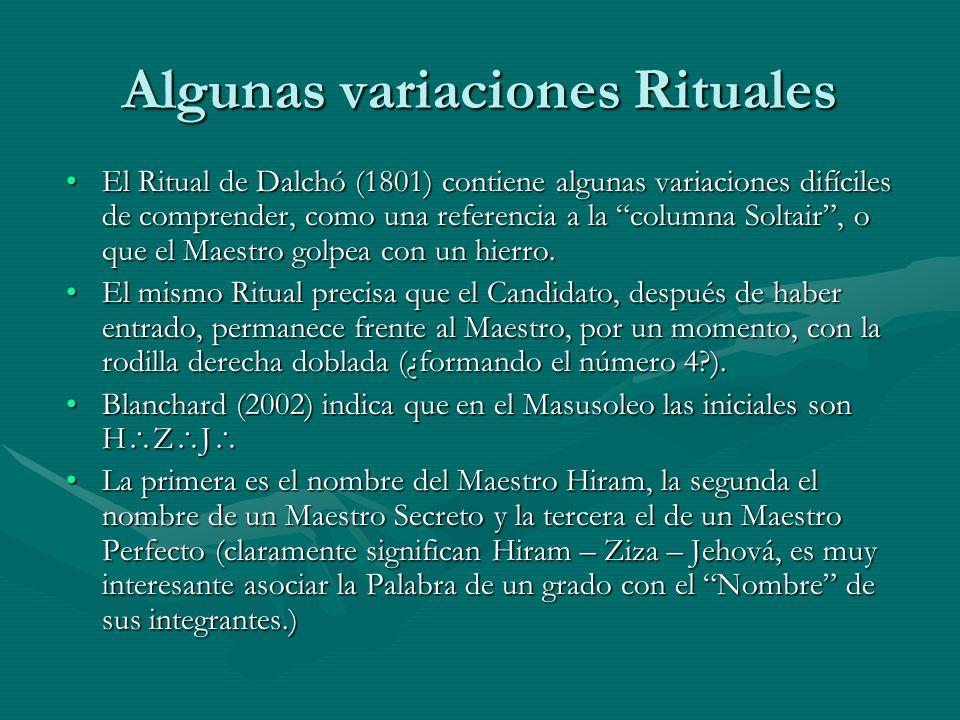 Algunas variaciones Rituales
