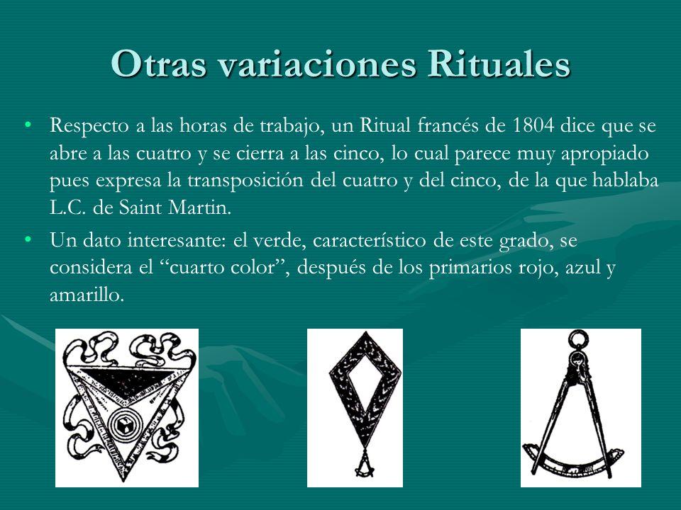 Otras variaciones Rituales