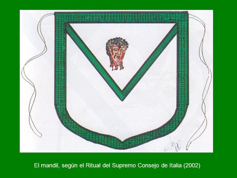 El mandil, según el Ritual del Supremo Consejo de Italia (2002)