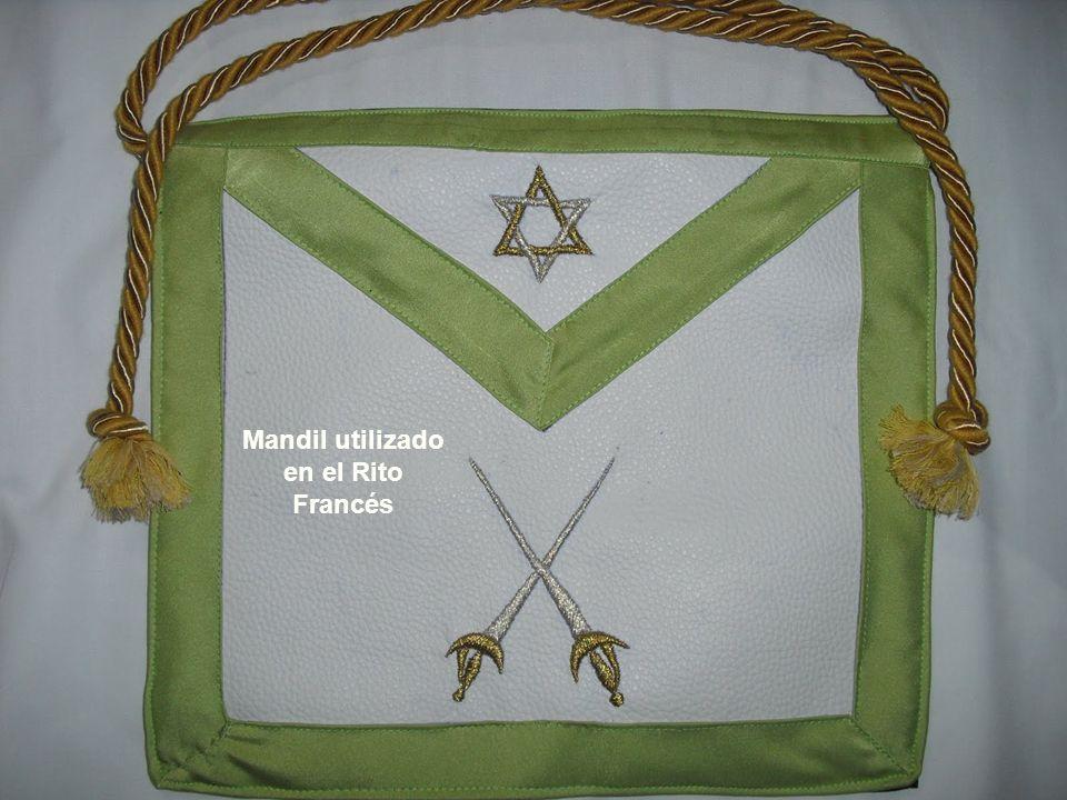 Mandil utilizado en el Rito Francés