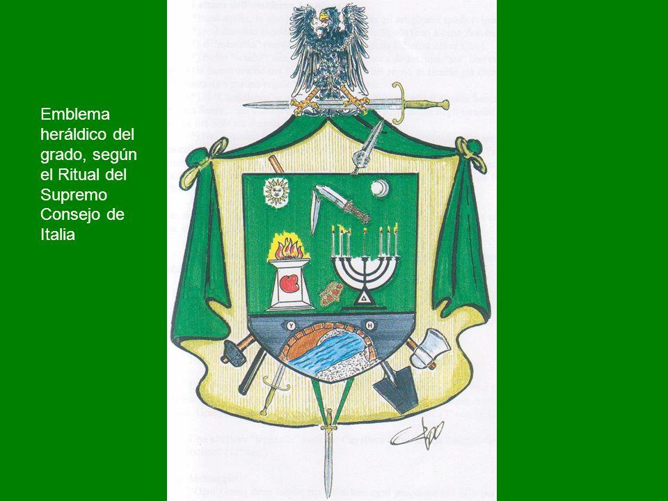 Emblema heráldico del grado, según el Ritual del Supremo Consejo de Italia