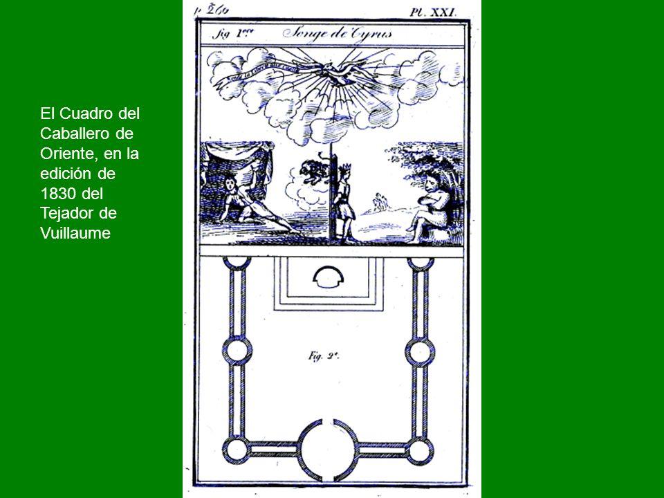 El Cuadro del Caballero de Oriente, en la edición de 1830 del Tejador de Vuillaume