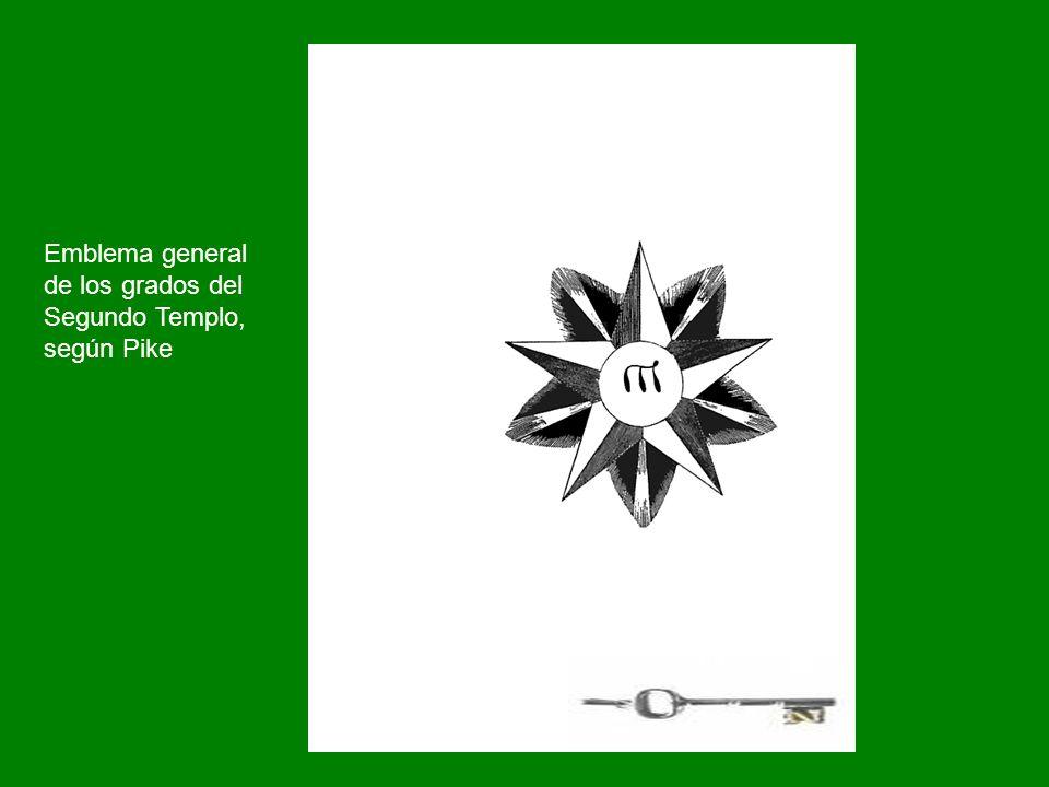 Emblema general de los grados del Segundo Templo, según Pike