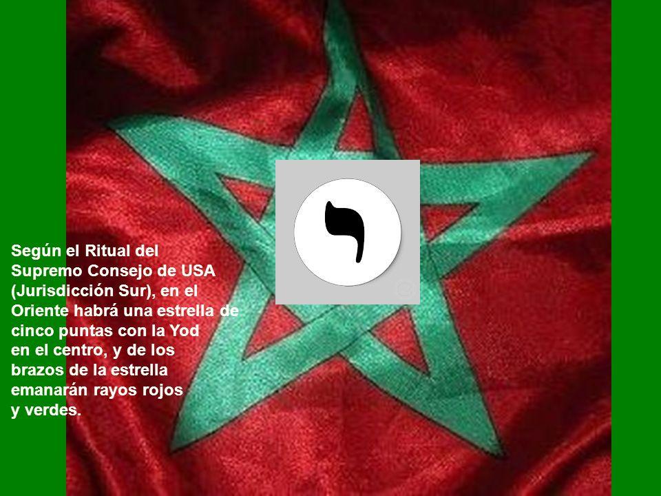 Según el Ritual delSupremo Consejo de USA. (Jurisdicción Sur), en el. Oriente habrá una estrella de.