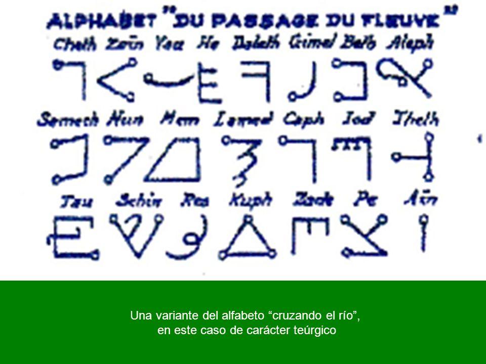 Una variante del alfabeto cruzando el río ,