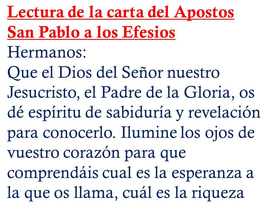 Lectura de la carta del Apostos San Pablo a los Efesios