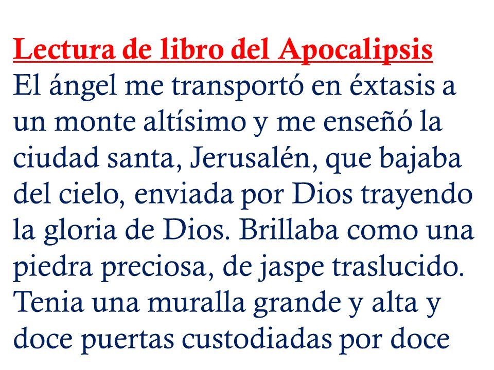 Lectura de libro del Apocalipsis