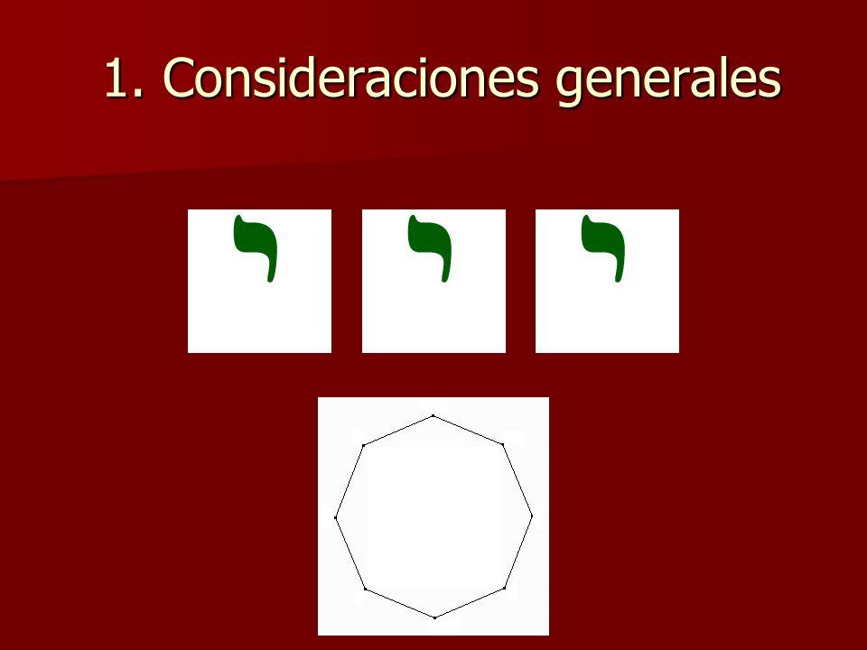 1. Consideraciones generales