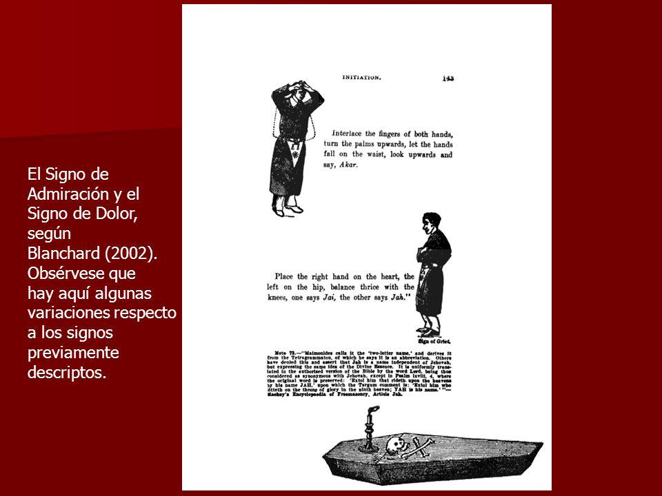 El Signo de Admiración y el. Signo de Dolor, según. Blanchard (2002). Obsérvese que. hay aquí algunas.