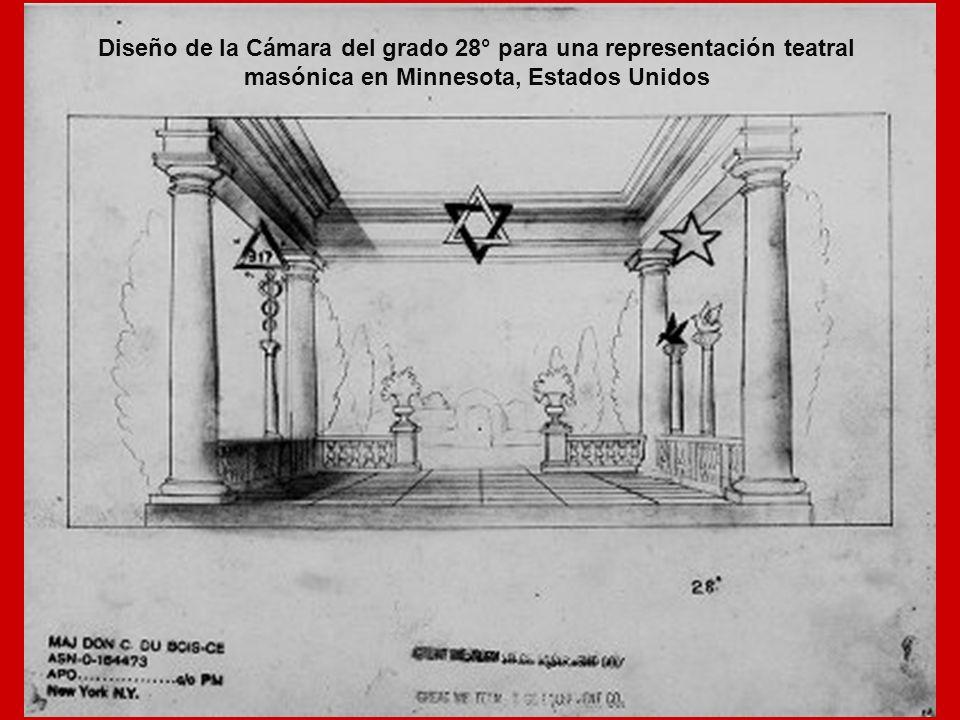 Diseño de la Cámara del grado 28° para una representación teatral