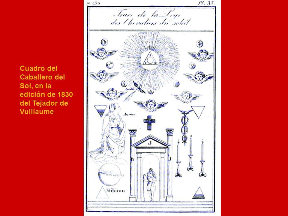 Cuadro del Caballero del Sol, en la edición de 1830 del Tejador de Vuillaume
