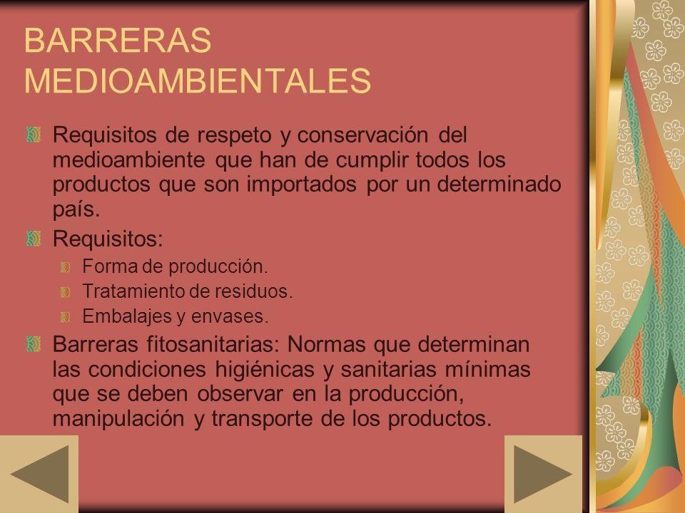 BARRERAS MEDIOAMBIENTALES