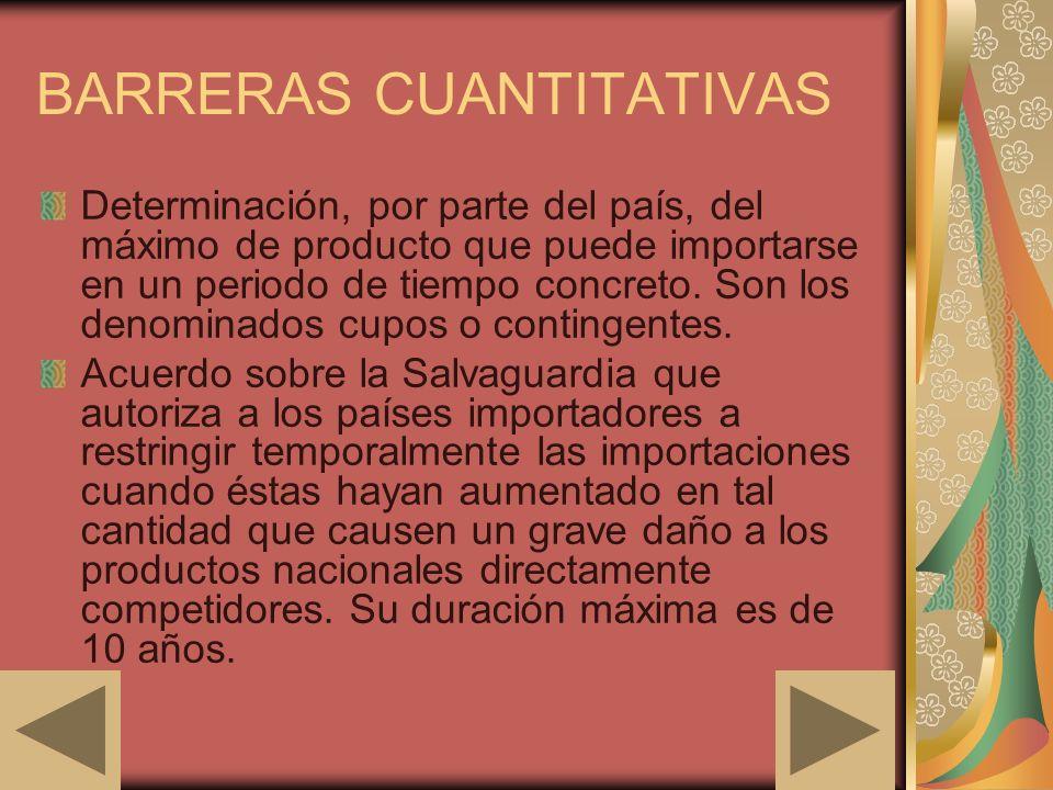 BARRERAS CUANTITATIVAS