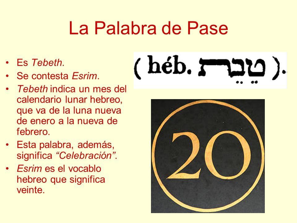 La Palabra de Pase Es Tebeth. Se contesta Esrim.