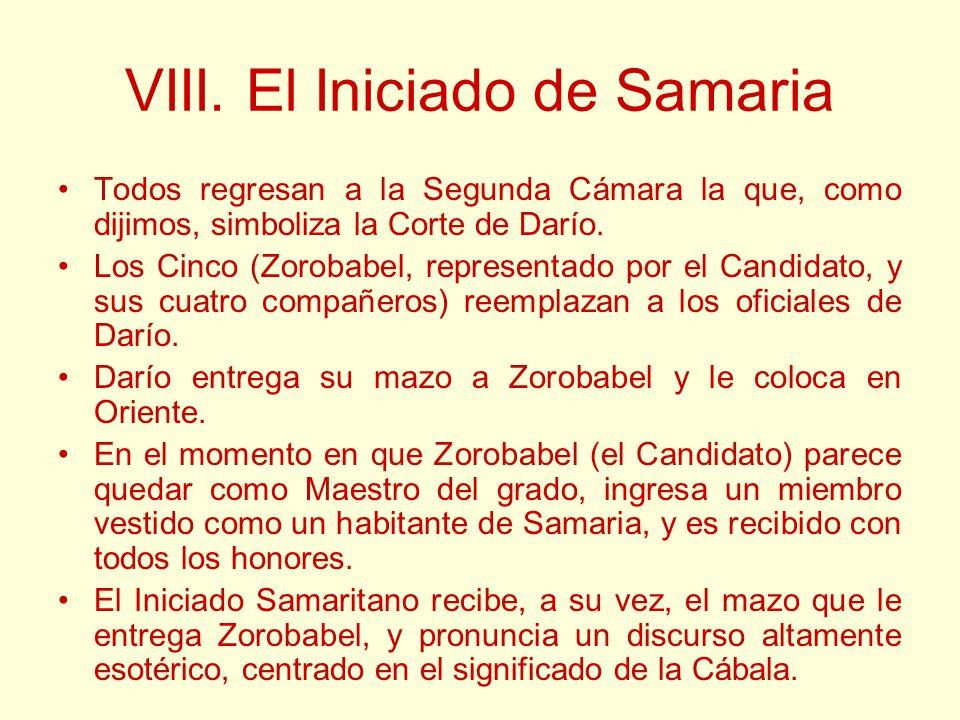 VIII. El Iniciado de Samaria