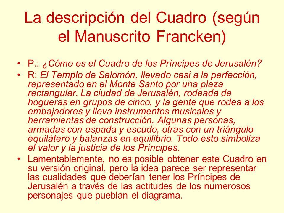 La descripción del Cuadro (según el Manuscrito Francken)
