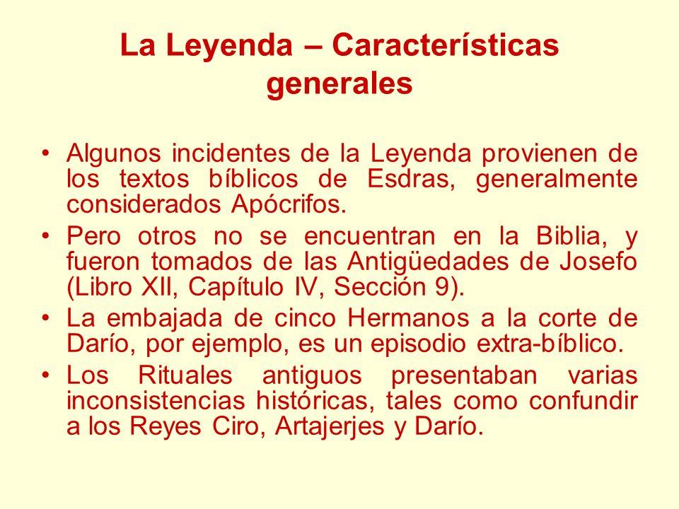 La Leyenda – Características generales