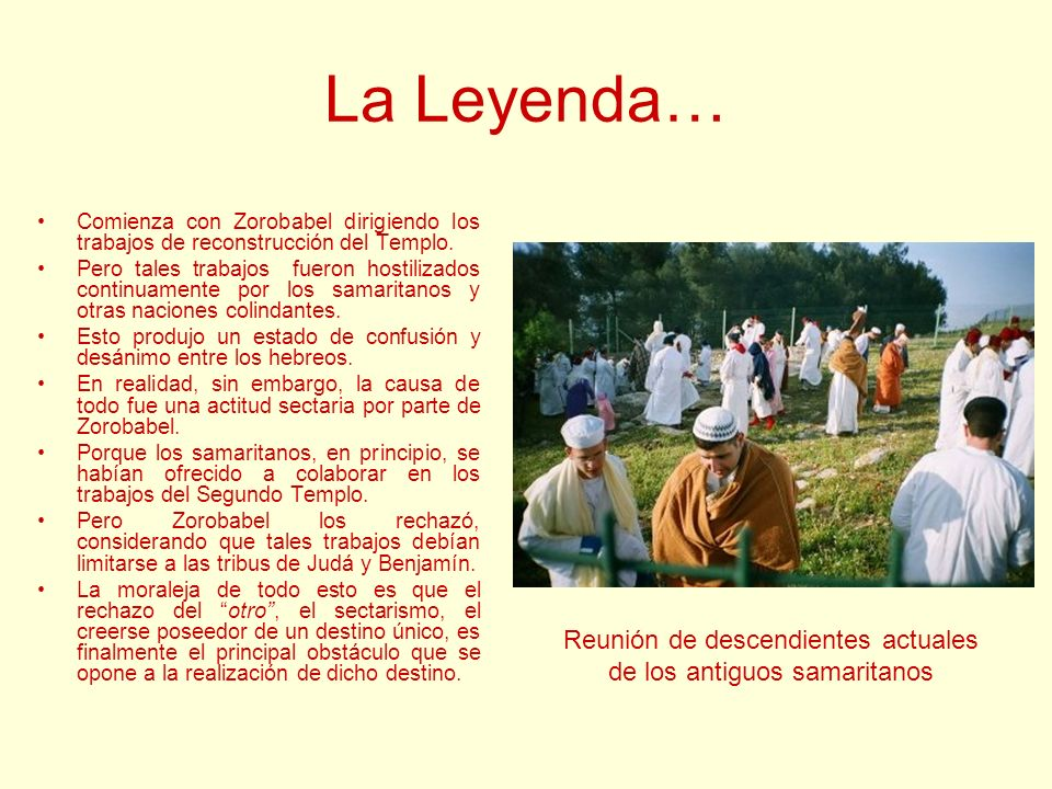 La Leyenda… Reunión de descendientes actuales