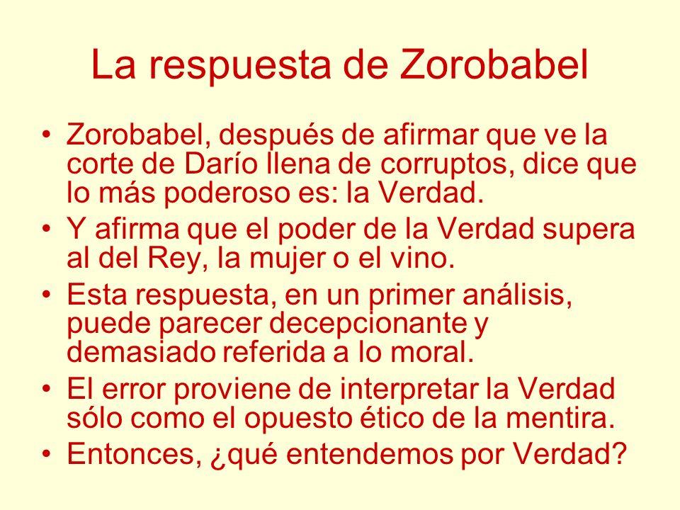 La respuesta de Zorobabel