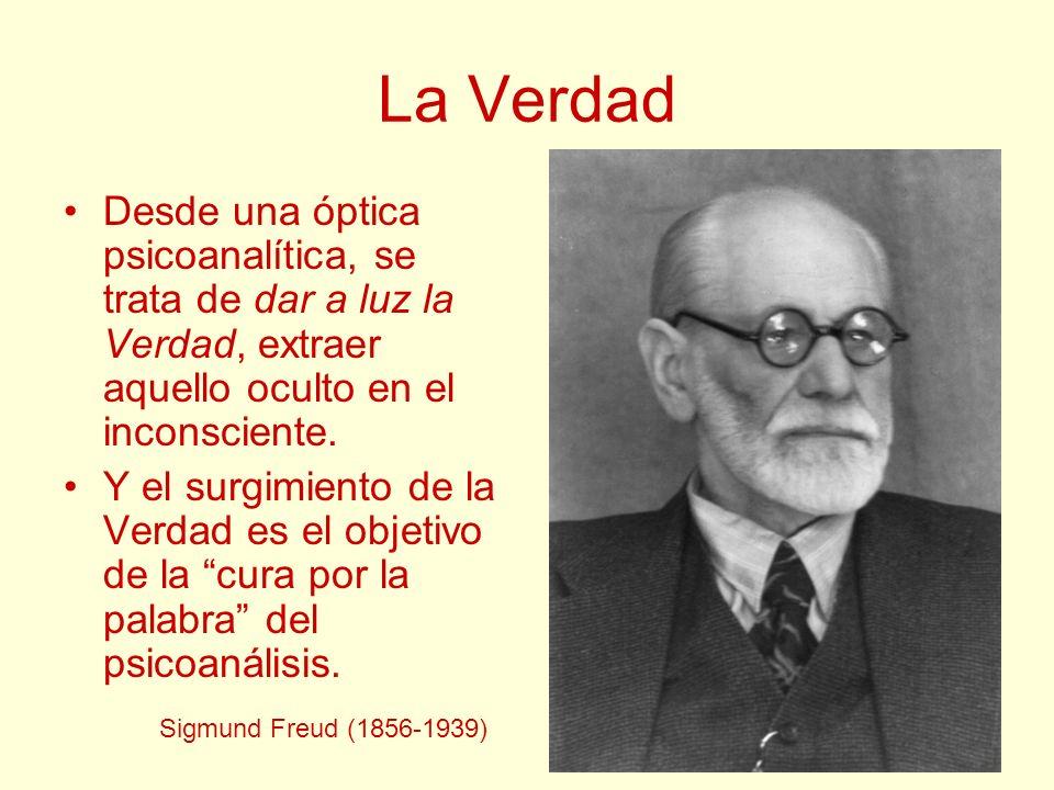 La Verdad Desde una óptica psicoanalítica, se trata de dar a luz la Verdad, extraer aquello oculto en el inconsciente.
