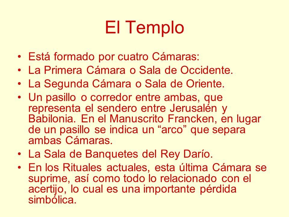 El Templo Está formado por cuatro Cámaras: