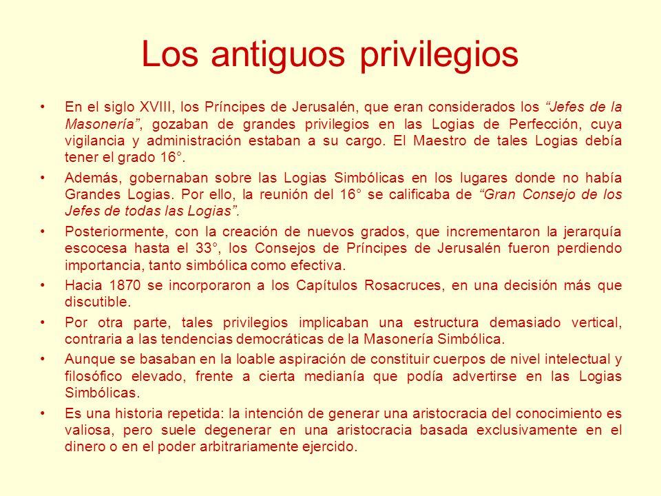 Los antiguos privilegios