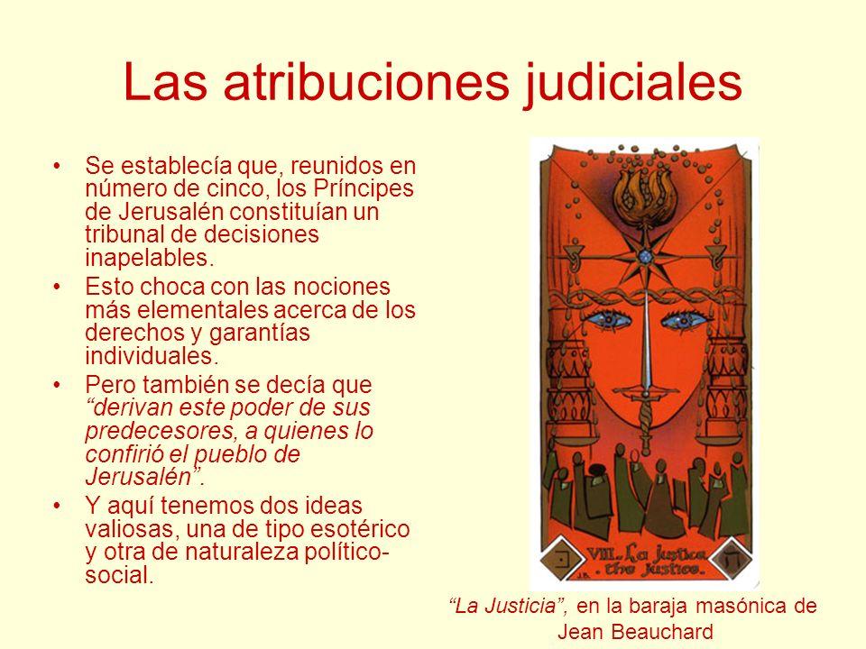 Las atribuciones judiciales