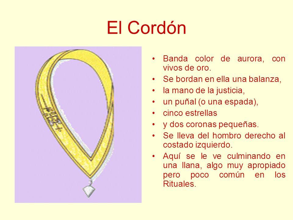 El Cordón Banda color de aurora, con vivos de oro.