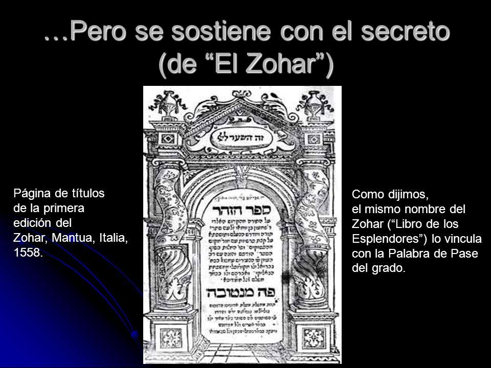 …Pero se sostiene con el secreto (de El Zohar )