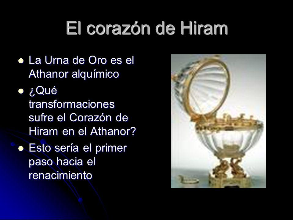 El corazón de Hiram La Urna de Oro es el Athanor alquímico