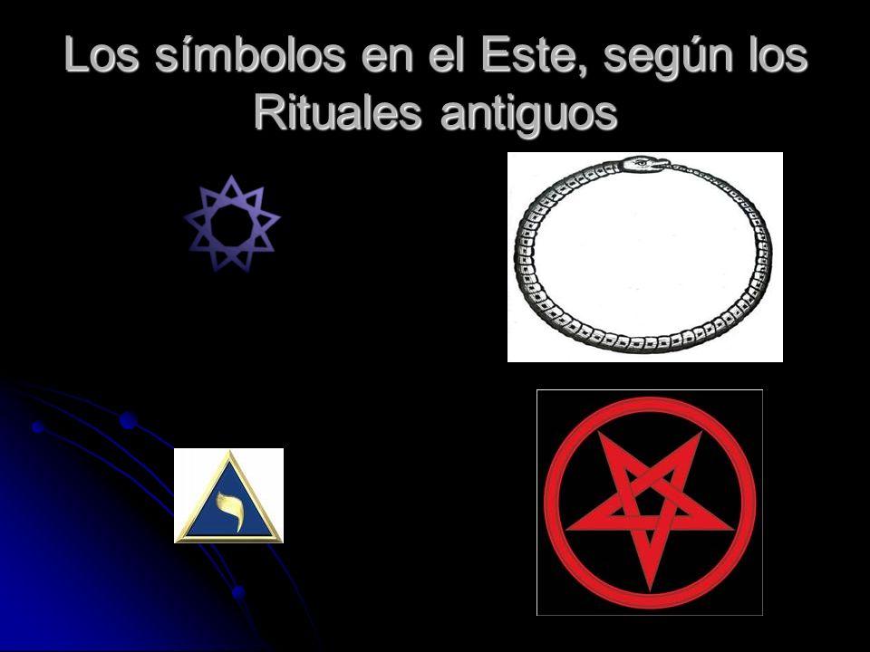 Los símbolos en el Este, según los Rituales antiguos