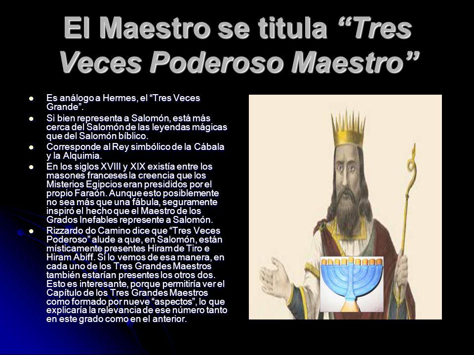 El Maestro se titula Tres Veces Poderoso Maestro